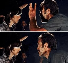 Flick Carl's hat, that's your ass buddy. Walking Dead Series, Fear The Walking Dead, Best Tv Shows, Best Shows Ever, Rick And Michonne, Walk The Earth, No Way Out, Carl Grimes, Dead Inside