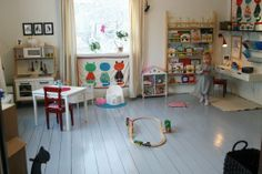 i LOVE the natural wood in this space! colorful but not too much color!!! A Colorful Play Room for Olivia