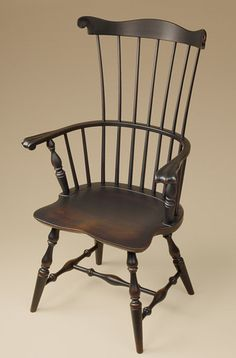 Windsor Chair Fan Back Windsor Armchair Wood Dining Room Chair Furniture | eBay