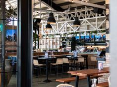 A new seaside eatery combing inner-city dining with relaxed beach vibes Bar Furniture, Outdoor Furniture, Seaside Restaurant, Outdoor Cabana, Back Bar, Banquette Seating, Step Inside, Lodges, Surfing