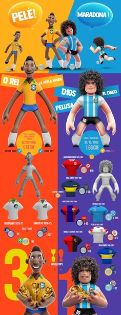 Pelé y Maradona on Behance