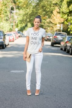 Jasmin daily {www.jasmindaily.com} - Taking a tee from day to night - night look