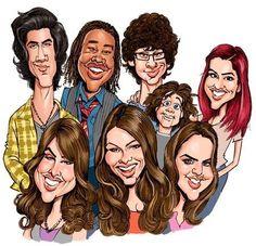 Ariana Grande, Liz Gilles, Victoria Justice, Matt Bennett, Avan Jogia, Leon Thomas iii, Daniella Monet, Rex, Victorious