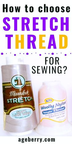 This sewing tutorial is focusing on stretch thread for sewing. Learn how to sew with elastic thread, find out all about woolly nylon and Eloflex threads. Sewing with a stretch thread has its own settings. Wooly nylon thread is used mostly in sergers. Learn all about types of stretchy sewing threads and how to use stretchy thread in your sewing projects. Sewing For Beginners Diy, Sewing For Dummies, Sewing Basics, Sewing Hacks, Sewing Tutorials, Sewing Tips, Serger Thread, Elastic Thread, Quilting Designs
