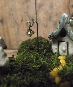 2 Miniature Lanterns Glow in the Dark Fairy Garden Terrarium Accessories. $6.00, via Etsy.