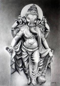 Metal Ganesha painting by Young Artist Komal Ajay Kumthekar Ganesha Sketch, Ganesha Drawing, Lord Ganesha Paintings, Shiva Art, Krishna Art, Hindu Art, Ganesha Art, Sri Ganesh, Tattoo Designs