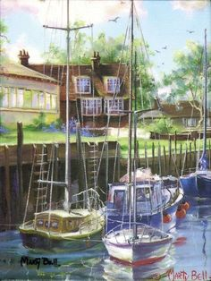 Rye Harbor -  by Marty Bell