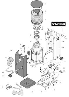 Keurig Coffee Maker Exploded View : Gaggia Baby Black - Parts Diagram Part Diagrams Pinterest Babies and Black