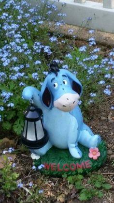 Eeyore in garden 🍃 Eeyore Quotes, Winnie The Pooh Quotes, Winnie The Pooh Friends, Pooh Bear, Tigger, Eeyore Pictures, Disney Garden, 100 Acre Wood, Disney Home