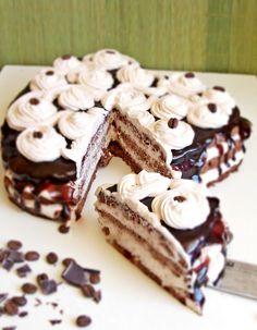 Tort cu caramel si ciocolata   Rețete Papa Bun