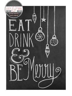 holiday chalkboard art   ... Christmas Card - Chalkboard Art - Digital Christmas Image- Non Photo