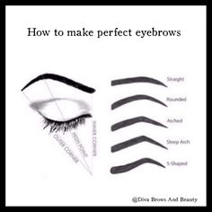Choosing right eyebrow shape for your face . Eyebrow Shaper, Eyebrow Pencil, Eyebrow Makeup, Beauty Makeup, Eyebrow Wax, Bad Eyebrows, How To Draw Eyebrows, Anime Eyebrows, Hair Knot