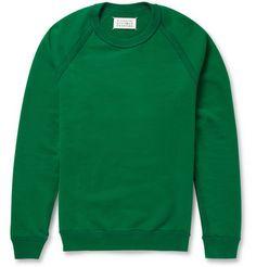 Maison Martin Margiela Loopback Cotton-Jersey Sweatshirt               | MR PORTER