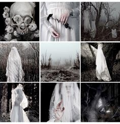 Bílá paní - a ghostly harbinger of death dressed in a white wedding dress.