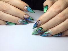 Turquoise, Nails, Beauty, Jewelry, Finger Nails, Ongles, Jewels, Schmuck, Cosmetology