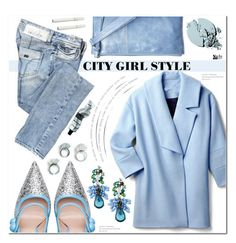 """""""City Girl Style: Baby Blue Chic"""" by asteroid467 ❤ liked on Polyvore featuring Stila, Miss Sixty, HOBO, Miu Miu and Aesop"""