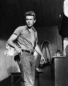 James Dean in Giant directed by George Stevens, 1956 #JamesDean #1950s