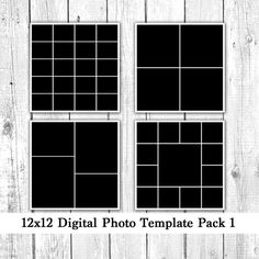 X Photo Template Pack  Photo Card Templates Photo Collage