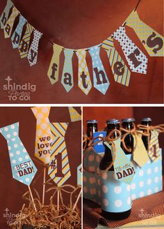 fathers day - Cool Father's Day Idea, you can make the ties with scrapbooking paper.