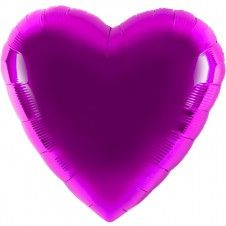 Folienballon in Herzform - lila