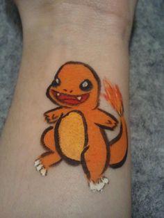 #004 Charmander - Pokemon Face Paint