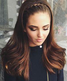 Pelo Suelto Con Corona De Trenza Peinados Hair