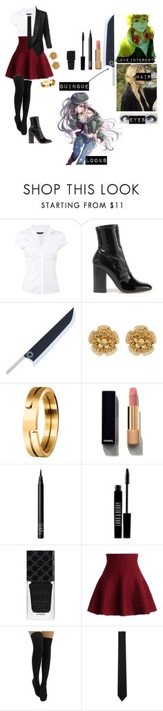 """""""Tokyo ghoul oc 6"""" by gglloyd ❤ liked on Polyvore featuring Dorothy Perkins, Valentino, Poste, Miriam Haskell, Chanel, NARS Cosmetics, Lord & Berry, Gucci, Chicwish and Yves Saint Laurent"""
