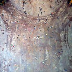 Olivier Robin  Pour une fois qu'on y vient, il pleut  150x150 Cm  Huile sur toile