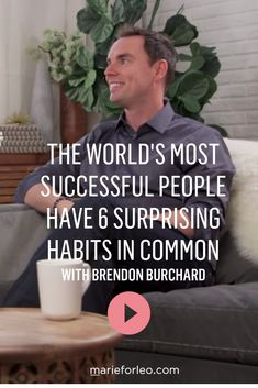 Habits of Successful People. Brendon Burchard and Marie Forleo discuss the habits that lead to high performance on MarieTV. Motivational Videos, Inspirational Videos, Self Development, Personal Development, Marie Tv, Marie Forleo, Habits Of Successful People, Daily Inspiration Quotes, Time Management Tips