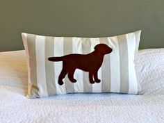 Puppy nursery theme!!!!!!  Classic Puppy Lumbar Pillow Cover  Neutrals by nest2impress,