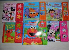 Play-A-Sound Interactive Books Dora, Elmo, Mickey, Minnie and Nemo LOT