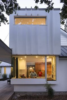 Modern Rear elevation of Palma Residence in Austin Texas