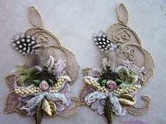 Taupe Applique | Hand beaded lace applique | Angela Campos (Tuca) | Flickr