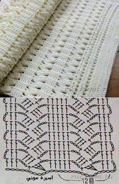 Filet Crochet, Poncho Au Crochet, Beau Crochet, Crochet Diagram, Crochet Chart, Crochet Scarves, Baby Blanket Crochet, Crochet Motif, Crochet Baby