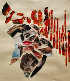 """The Speech by Damiano Comelli; Collage: paper and photo on paper; 18.9 H x 14.2 W x 0.4"""" 