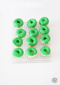 sweet treats for your little leprechaun - DIY green donuts via momsbestnetwork.com