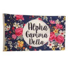 Alpha Gamma Delta Floral Flag by NowGreek on Etsy