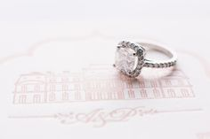 Square Diamond Engagement Ring | photography by http://oneandonlyparisphotography.com