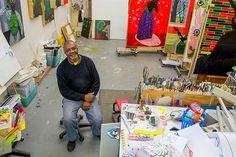 Kerry James Marshall in his studio - Part II: Artists at Work: Studios as Laboratories - News - Chicago Gallery News