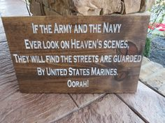 Handpainted wood Marine Corps Hymn sign on Etsy, $60.00
