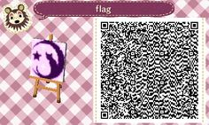 I finally (sloppily) made a town flag but idk if I like it that much, but here's a qr code so feel free to use it for whatever!