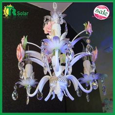 Wrought iron ceramic flower pendant lamp from TR SOLAR. email:sales05@solarledchina.com skype:eva900502 ICQ:681483337 http://www.aliexpress.com/store/product/Free-Shiping-E14-3-lighting-K9-Crystal-Chandelier-decorative-with-pink-ceramic-rose-flower-for-living/210066_799341619.html
