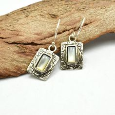Mother of pearl earrings sterling silver dangle earrings retro