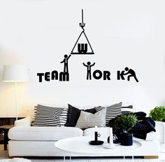 Vinyl Wall Decal Teamwork Word Office Inspiration Stickers Mural (ig4300)