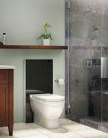 Geberit Monolith - alternative to standard tank. dual-flush. for floor- or wall-mount toilets