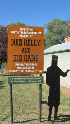 Ned Kelly, Jerilderie N S W Ned Kelly, Flora And Fauna, Hold On, Australia, Lettering, Country, My Love, Travel, My Boo