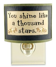 Love this 'Thousand Stars' Night-Light on #zulily! #zulilyfinds