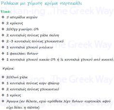 Ρολάκια με γέμιση κρέμα πορτοκάλι :: Dukan-ing ..The Greek Way Dukan Diet, Greek, Greece