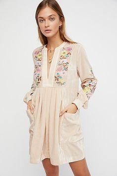 Embroidered Dress #boho #bohemian #fashion