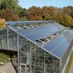 "Solar Panels Sustain Indoor Crops, Create Electricity - UC Santa Cruz researchers ""are taking a new approach to sustaining crops while creating electricity with a new PV system that uses pigments to absorb sunlight. These Wavelength Selective Photovoltaic Systems (WSPVs) ...catches only green and blue wavelengths. Since plants reflect green light instead of absorbing it, these wavelengths can be converted into electricity while allowing the plants below the panels to flourish."""